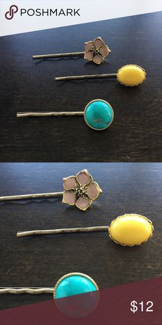 Anthropologie bobby pins Gorgeous trio of hair pins from Anthropolgie Anthropologie Accessories Hair Accessories