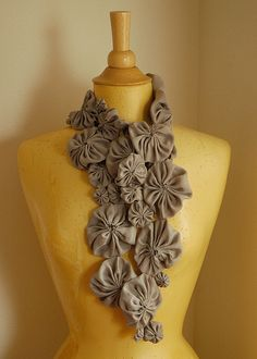 washable silk wip -- yo yo scarf: folded | Flickr - Photo Sharing!
