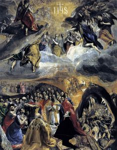 """The Adoration of the Name of Jesus"" c.1578-1579 - El Greco (Domenikos Theotokopoulos) (Greek, 1541 - 1614)"