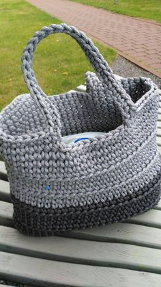 Crochet handbag from rope. Best handbag for summer!
