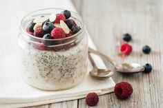 Try these Berry Overnight Oats with chia, almonds, and fresh berries the next time you want a nutrition-packed breakfast without any morning prep.
