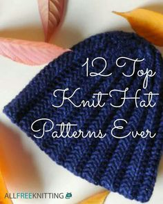 12.top knit  hat patterns ever