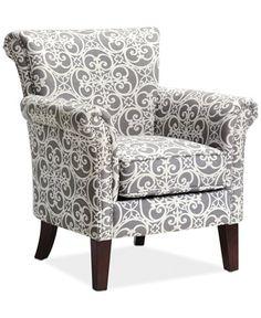 JLA Sarah Printed Fabric Accent Chair, Direct Ship