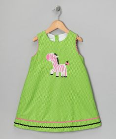 Take a look at this Green Polka Dot Zebra Jumper - Infant, Toddler & Girls by Candyland on #zulily today!