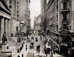 Wall Street East from Nassau Street