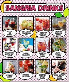 Sangria drink recipes! Cheers to a refreshing summer as featured on the Party Suite at  Bellenza. #sangria