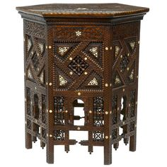 19th Century Carved Inlaid Eastern Centre Table
