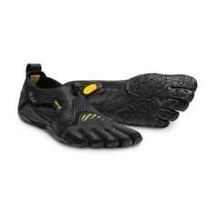 new product 17601 3e585 Vibram Fivefingers - Signa Mens Black Yellow - Barefoot Junkie Black Shoes,  Water Shoes