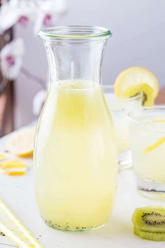 Sweet and sour, cool and refreshing, nothing beats a cold glass of refreshing lemonade on a hot summer day. Try this kiwi lemonade for a refreshing tangy change!