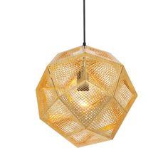 Lámpara colgante TOM DIXON Etch Brass #iluminacion #interiorismo #diseño