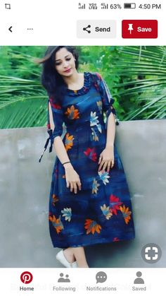 Salwar Designs, Simple Kurti Designs, Kurta Designs Women, Kurti Designs Party Wear, Printed Kurti Designs, Sleeves Designs For Dresses, Dress Neck Designs, Blouse Designs, Frock Design