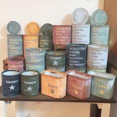 Tin Can Crafts, Sea Crafts, Home Crafts, Diy And Crafts, Recycled Jars, Recycled Crafts, Succulent Pots, Succulents, Tin Can Art