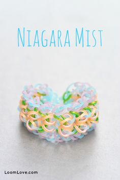 How to Make a Niagara Mist Bracelet Rainbow Loom video tutorial - How To Make A Website - Ideas of How To Make A Website - How to Make a Niagara Mist Bracelet Rainbow Loom video tutorial Rainbow Loom Tutorials, Rainbow Loom Patterns, Rainbow Loom Creations, Rainbow Loom Bands, Rainbow Loom Charms, Rainbow Loom Bracelets, Loom Love, Fun Loom, Loom Band Bracelets