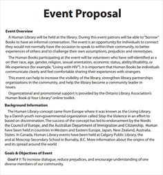 Event Proposal Templates Proposals Pinte
