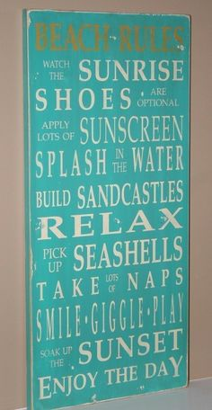 beach signs, beach houses, word art, at the beach, house rules, beach vacations, the rules, guest bathrooms, vintage style