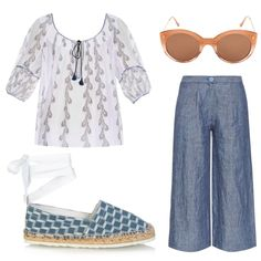 Relaxed style for a hot summer day. Linen trousers, sandals and batiste top. #linen #sunglasses #summer #fashion #style #yacht