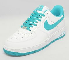 Nike Air Force 1 Low – White – Teal