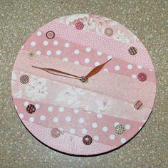 Decoupaged Fabric Clock: How to Make a Decoupaged Clock