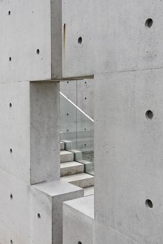 Stone Sculpture Museum, Kubach-Wilmsen Foundation, Bad Munster, Germany by Tadao Ando - Kelly Lamb - Pineagle Concrete Architecture, Stairs Architecture, Japanese Architecture, Amazing Architecture, Architecture Details, Modern Architecture, Ancient Architecture, Sustainable Architecture, Tadao Ando