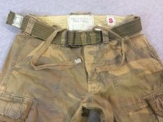ABERCROMBIE & FITCH CAMO PANTS Cargo w/ Belt Vtg Paratroops A&F Ultra RARE Sz 34 #AbercrombieFitch #Cargo
