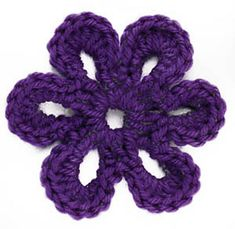 Ravelry: Crochet Motif VI: Six-Petal Flower Motif pattern by Lion Brand Yarn