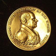 John Quincy Adams 1825 Indian Peace Medal, Bronze Medal