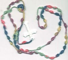 Crochet Rosaries, Rosary Patterns and Kits for sale!  Many colors to choose from!