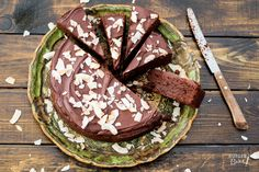 Fudgey chocolade-bountytaart - recept