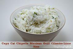Copy Cat Chipotle Mexican Grill Cilantro-Lime Rice Recipe