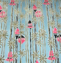 Vintage Mid-Century Modern Christmas Wrapping Paper Unused NOS (12/06/2011)