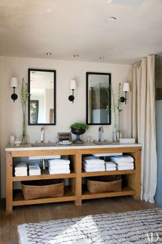 18 Great Ideas for Bathroom Double Vanities Photos | Architectural Digest