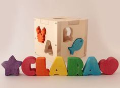 Name In A Wooden Box - The Personalised Children's Shape Sorter