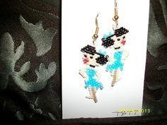 Betty Rubble Earrings by TBTT on Etsy