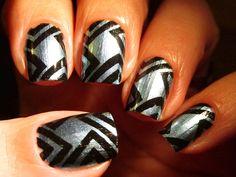 Nail art created by #MartaRobinsonPereira using #BM604 #nailstamp #ShopBM