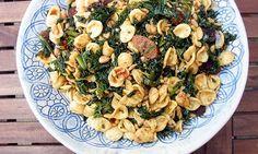 chorizo, kale pasta