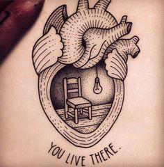 Heart Tattoo Design Drawings, Heart Tattoo Designs, Unique Tattoos For Women, Cool Tattoos For Guys, Body Tattoos, Hair Tattoos, Mini Tattoos, Black Tattoos, Original Tattoos