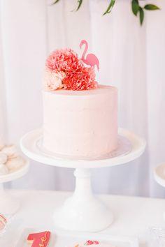 Cake from a Florals & Flamingos Birthday Party via Kara's Party Ideas KarasPartyIdeas.com (36)