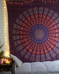 Indian Tapestry Mandala Throw Wall Hanging Ethnic Bedspread Queen Hippie Decor