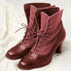 Ankle Heels, Low Heels, Heeled Boots, Shoe Boots, Closed Toe Shoes, Vintage Boots, Vintage Shoes Women, Estilo Boho, Mid Calf Boots