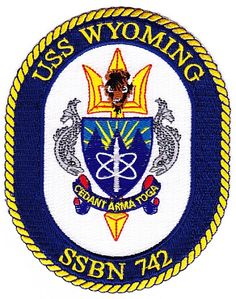 USS Wyoming SSBN-742 Ballistic Missile Submarine Patch $7.25