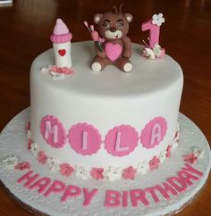 1 year old birthday cake. Made by Colleen de Wet
