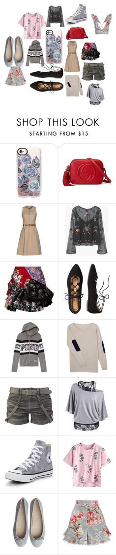 """""""Comment please"""" by kaylee-woolsey ❤ liked on Polyvore featuring Casetify, Gucci, Michael Kors, MANGO, Alexander McQueen, TravelSmith, Victoria's Secret, Orwell + Austen, Converse and Zimmermann"""