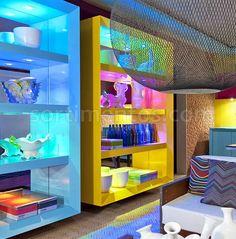 Mobiliário, estante, cores