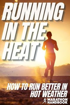 Hot weather can pose a new problem for runners – running in the heat is very different from cool conditions. This running guide explained to me exactly how to adapt my running to the hot summer weather!  Now Im totally adjusted to running in the heat Running In The Heat, Running Guide, Marathon Runners, Challenges, Weather, Poses, Hot, Summer, Figure Poses