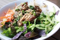 Grilled Pork and Vermicelli Noodles (Bun Thit Nuong)