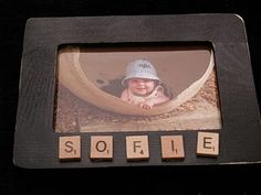 Decorate frames with scrabble tiles! Scrabble Tile Crafts, Scrabble Letters, Cork Crafts, Frame Crafts, Diy Arts And Crafts, Crafts To Make, Fun Crafts, Crafts For Kids, Scrabble Ornaments