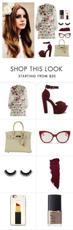 """""""Untitled #64"""" by hessa-46 ❤ liked on Polyvore featuring Zimmermann, Hermès, Miu Miu, Lipstick Queen, Kate Spade and NARS Cosmetics"""