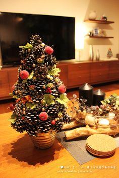ダイソーの商品でクリスマスのインテリアを作る!  I♥北欧!きこりんと建てる中庭がある平屋