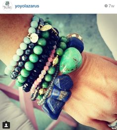 Bohemian jewelry/ Bracelets/ gifts for her/ Jewelry by Yoyo Lazarus at Etsy $120.00