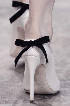 """""""Fashion fades, Style Is eternal"""" — pivoslyakova: Christian Dior Haute Couture. Dior Haute Couture, Christian Dior, Dior Shoes, Shoes Heels, Little Presents, Black White Fashion, Glamour, White Shoes, Black And White Heels"""